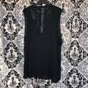 Charlotte Russe Black Sleeveless Top